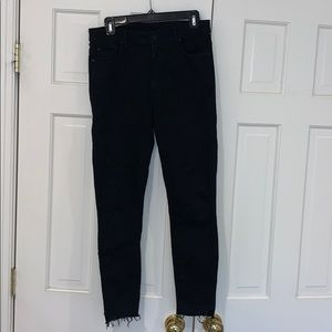 Mother stunner ankle step fray jeans, size 29